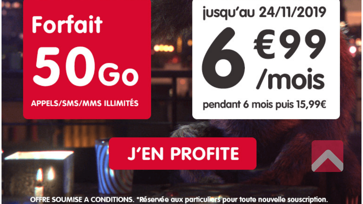 NRJ Mobile promo forfait pas cher.