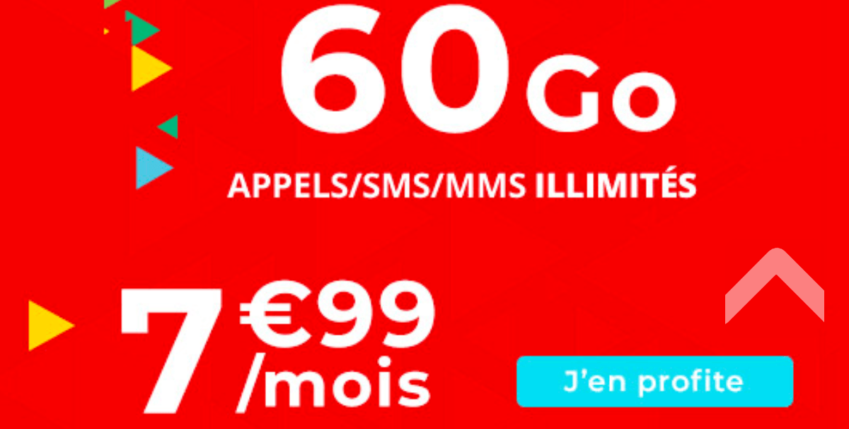 Un forfait pas cher de 60 Go de data dans le catalogue d'Auchan Telecom