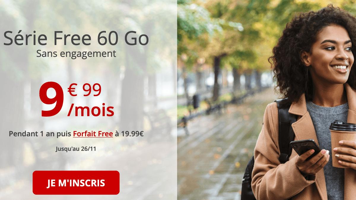 Série Free 50 Go promo forfait 4G.