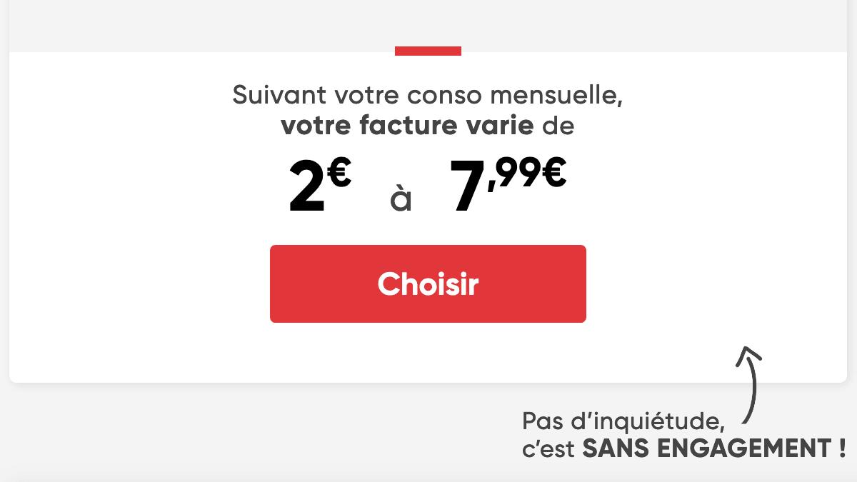Syma Mobile forfait à 2 euros.