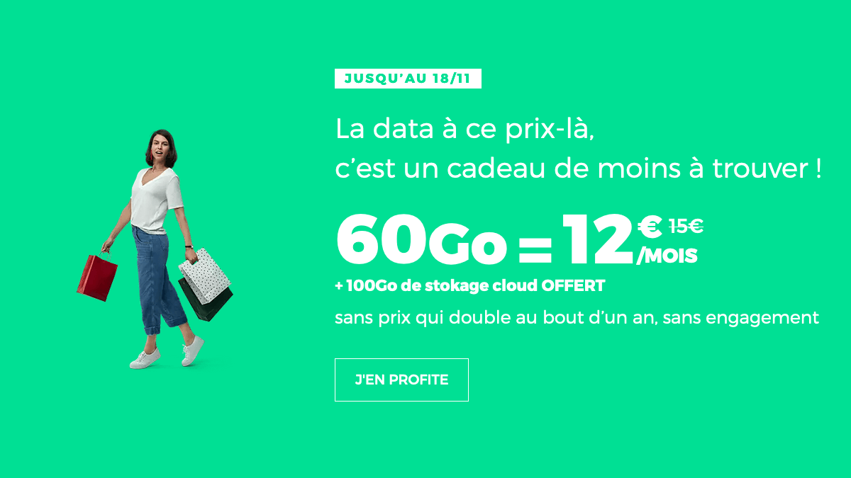 Promo forfait mobile 4G RED by SFR.