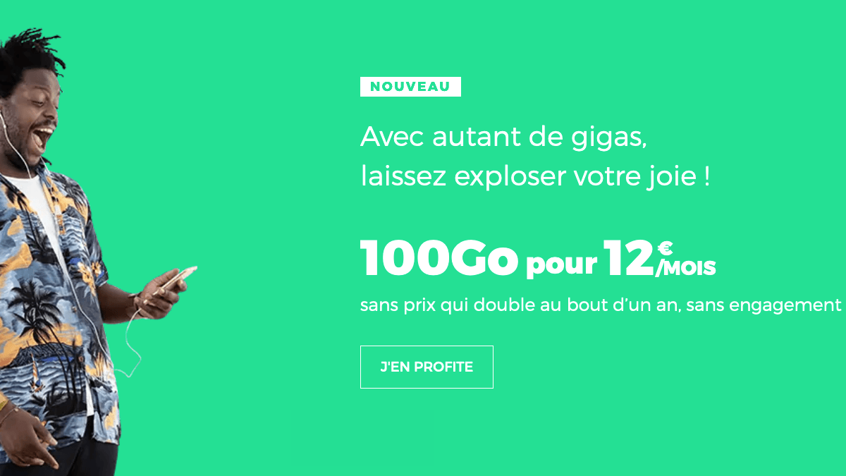 Forfait 100 Go pas cher RED by SFR.