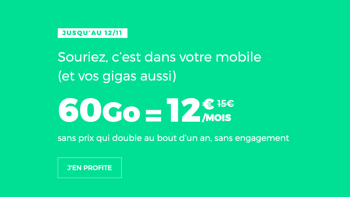RED by SFR forfait 4G en promotion.