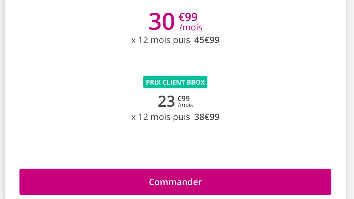 Promo Sensation 70 Go Bouygues Telecom.