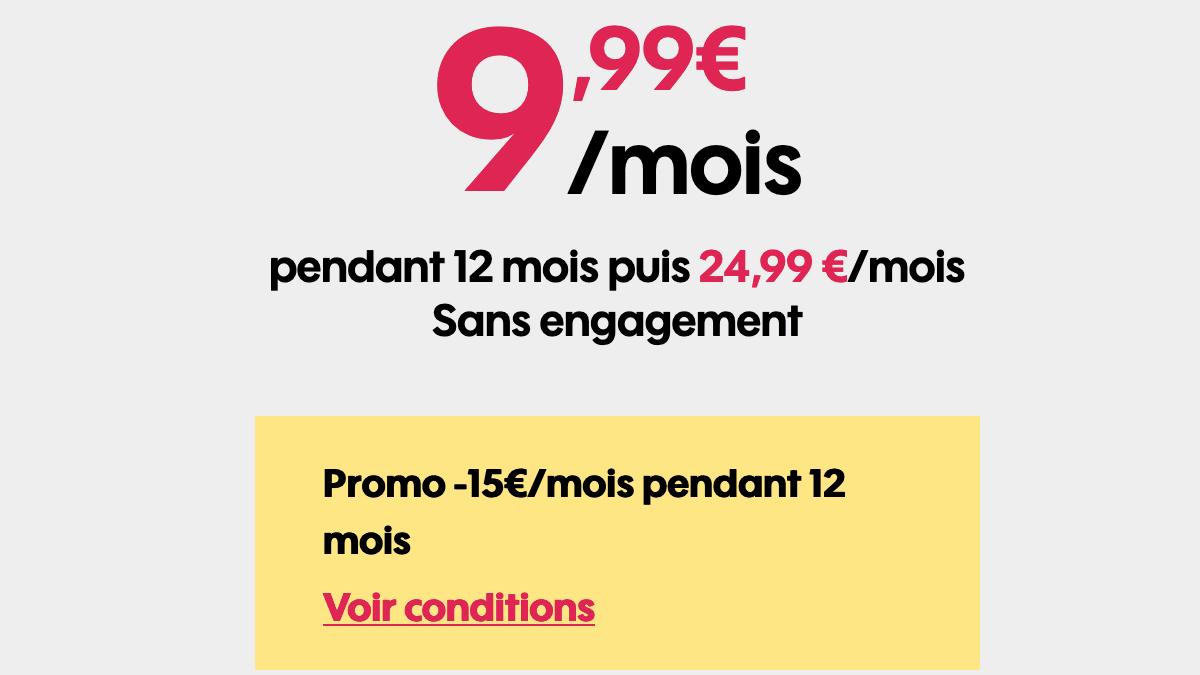 Sosh forfait mobile 4G en promotion.