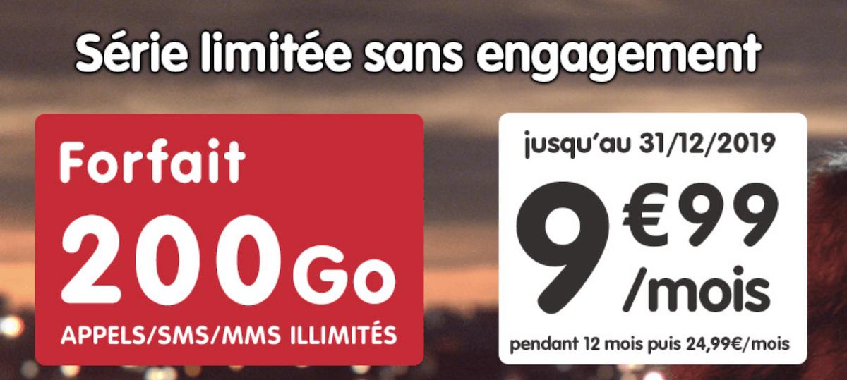 Un forfait 200 Go à moins de 10 euros du côté de NRJ Mobile