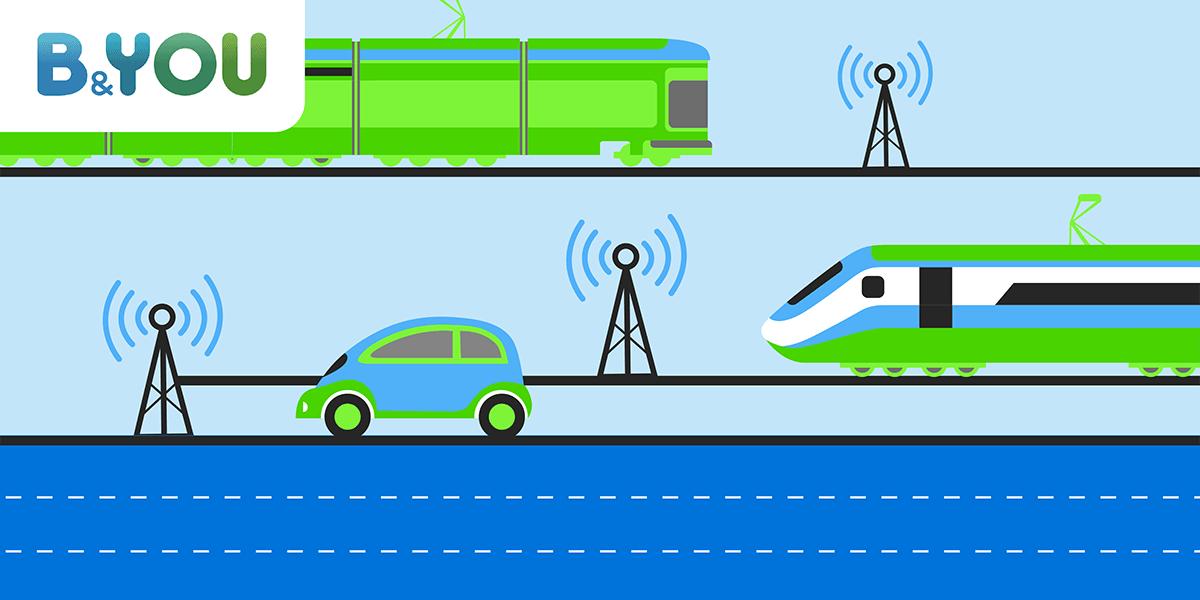 Couverture réseau autoroutes trains.