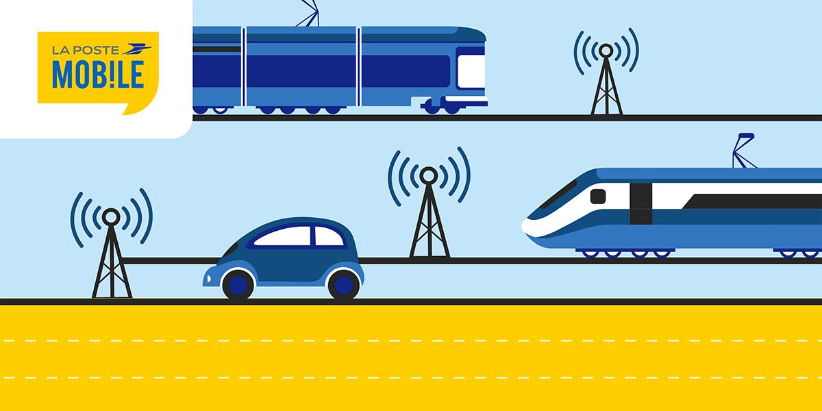 Déploiement réseau La Poste Mobile trains autoroutes métro.