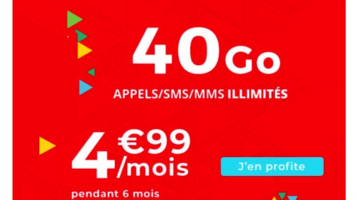 Forfait Auchan Telecom 40 Go pas cher