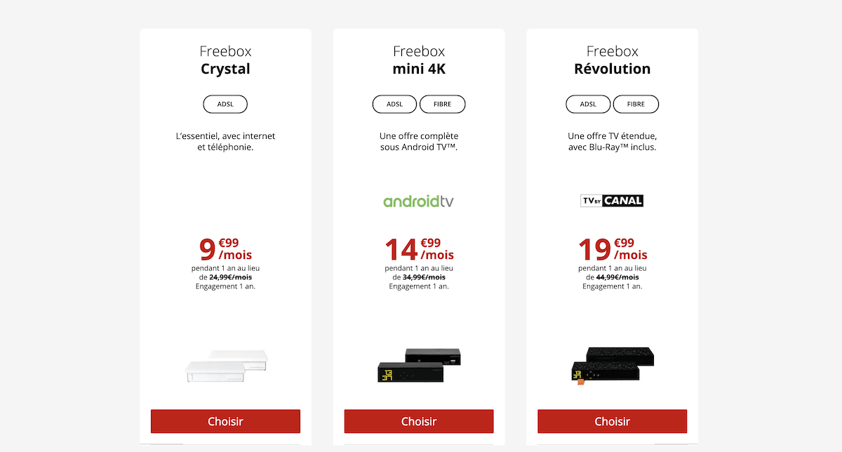 Des box internet également disponibles en promotion dans le catalogue de Free