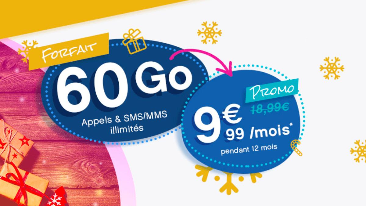 Le forfait mobile 60 Go chez coriolis Telecom est en promotion pendant 12 mois.