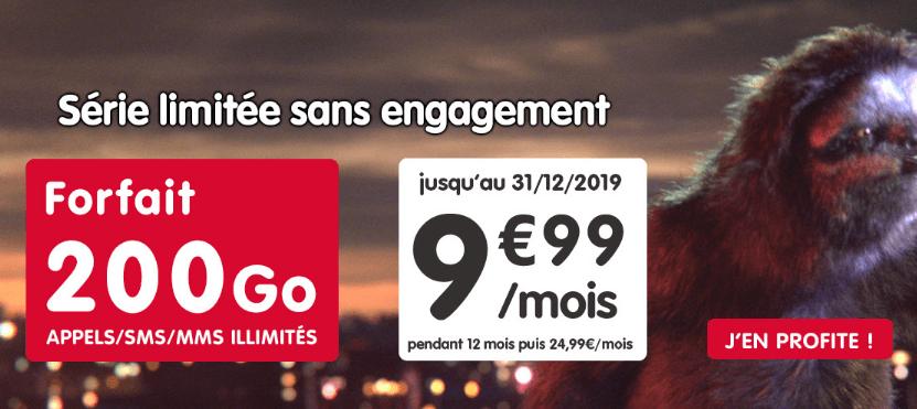 Promo forfait 4G NRJ Mobile.