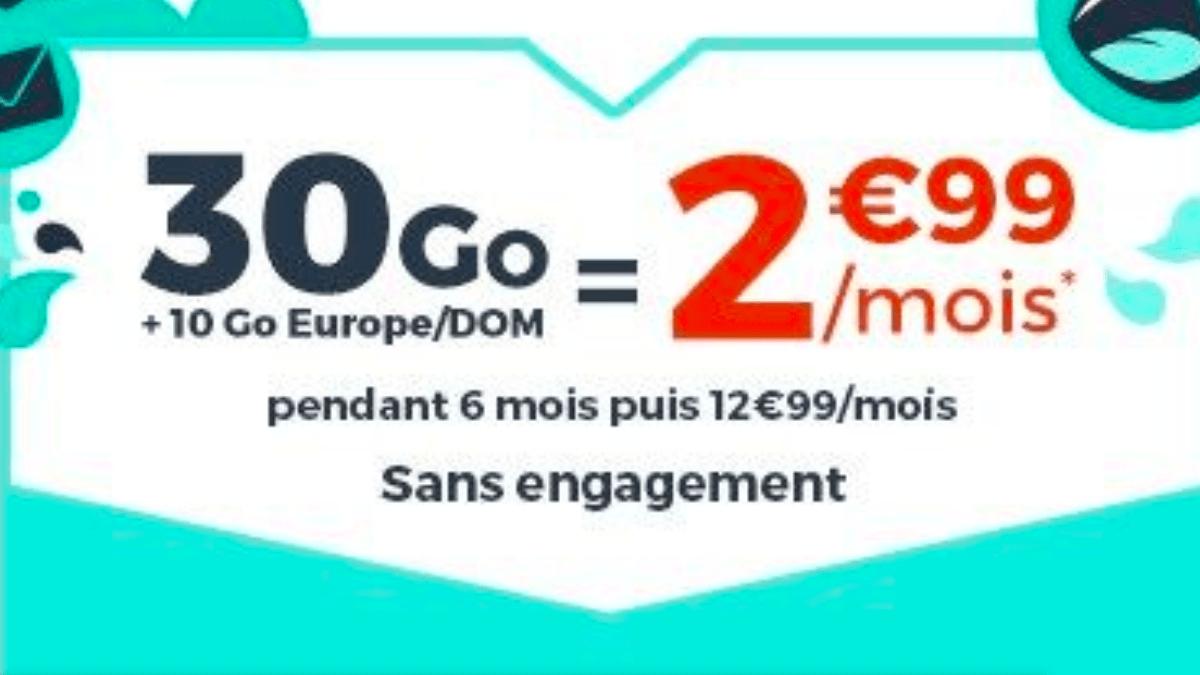 Le forfait 2€ commercialisé en ce moment par Cdiscount Mobile