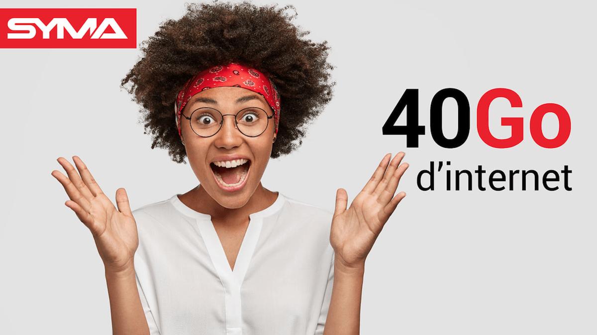 L'offre 40 Go de Syma Mobile commercialisée à 9,90€/mois