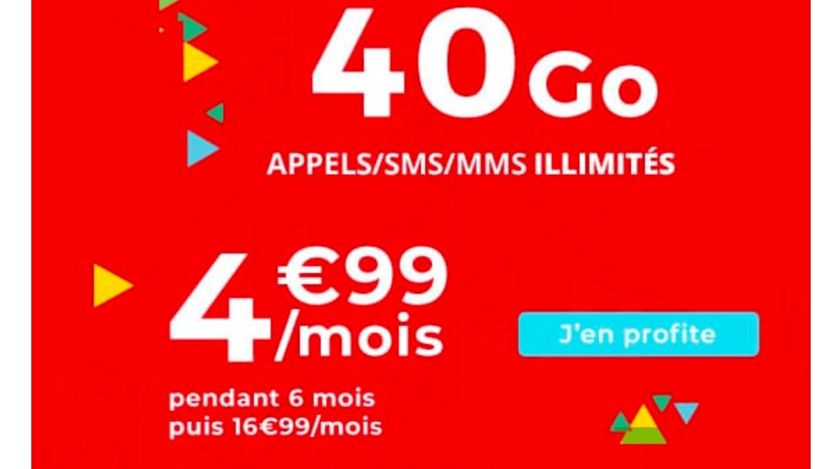 Le nouveau forfait en promo de Auchan Telecom