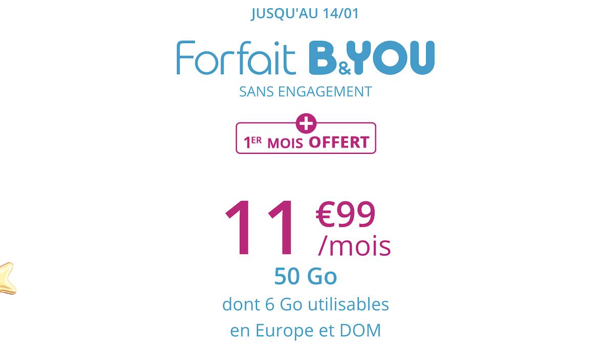 Le forfait mobile de B&YOU disponible en promotion