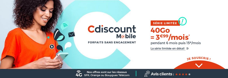 le forfait 4G de Cdscount Mobile