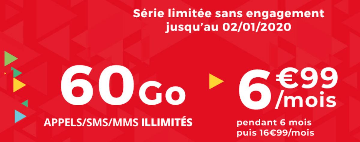 60 Go de données mobiles à prix réduit avec le forfait pas cher d'Auchan Telecom