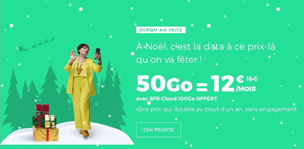 L'offre de Noël de RED by SFR pour un forfait sans engagement 50 Go