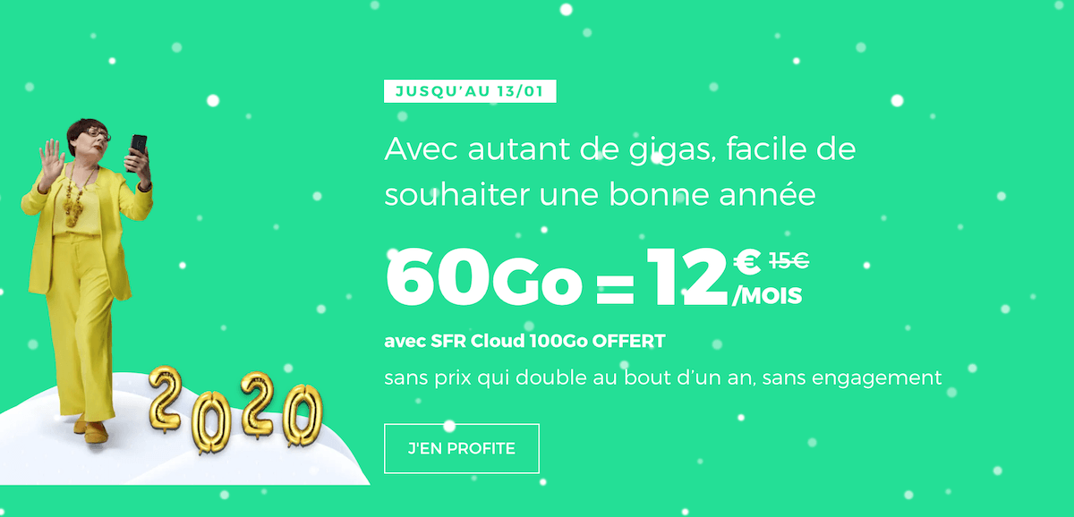 L'offre de RED by SFR pour un forfait pas cher avec 60 Go de data