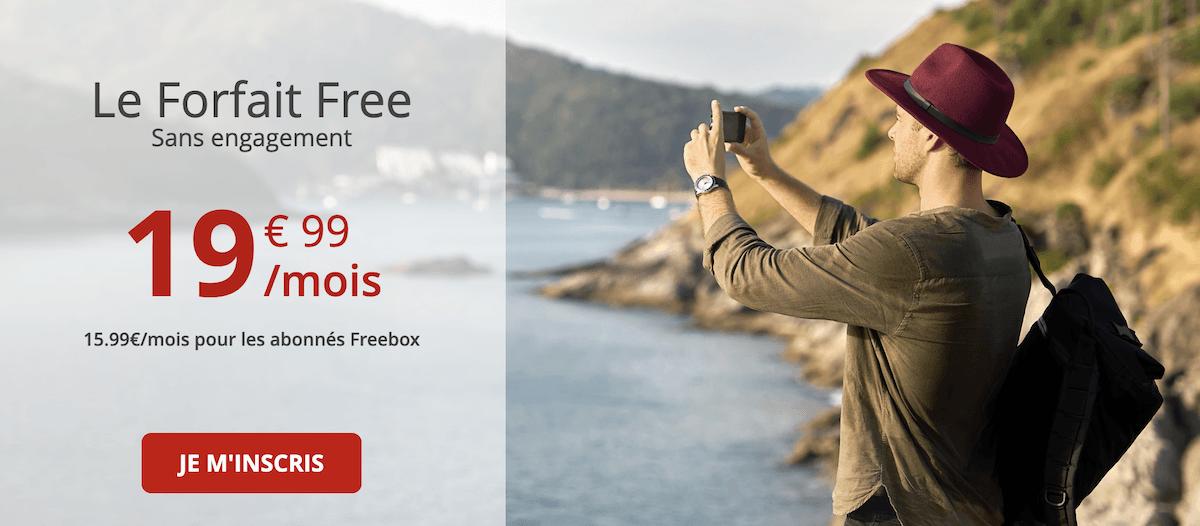 Quels sont les services mis en avant par le forfait 100 Go de Free mobile ?