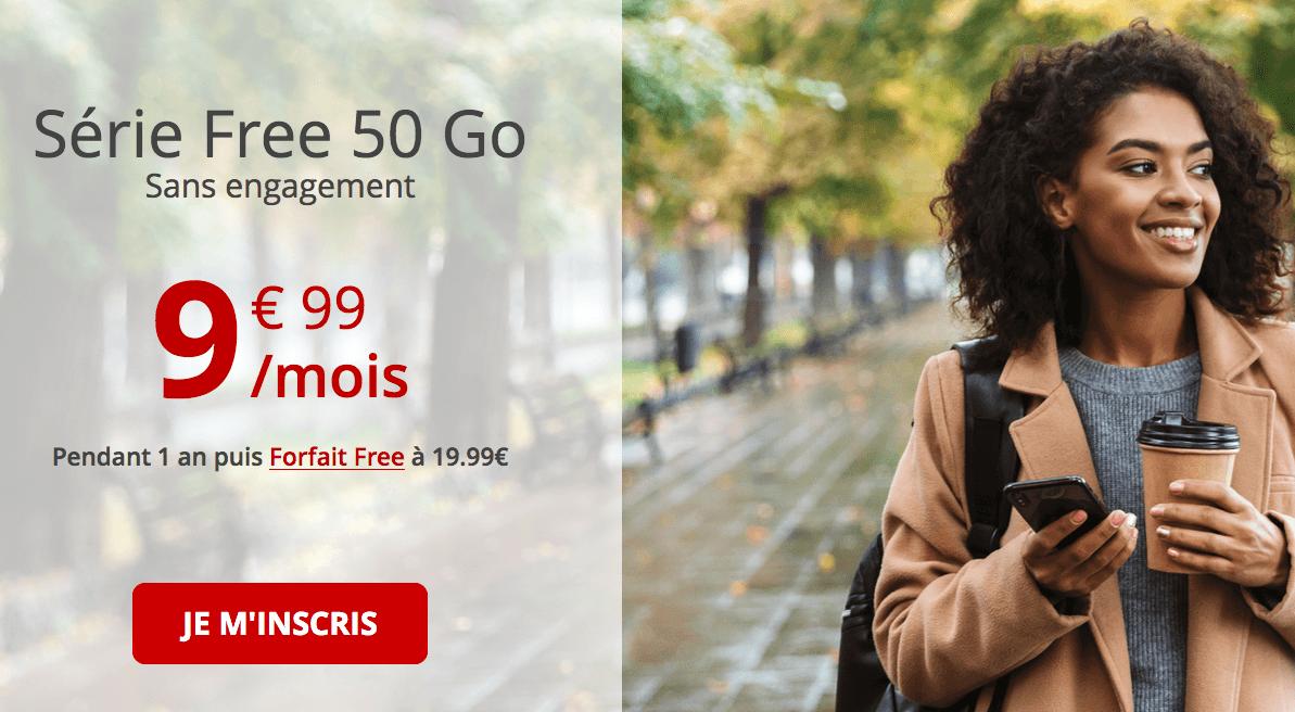 série spéciale Free 50 Go