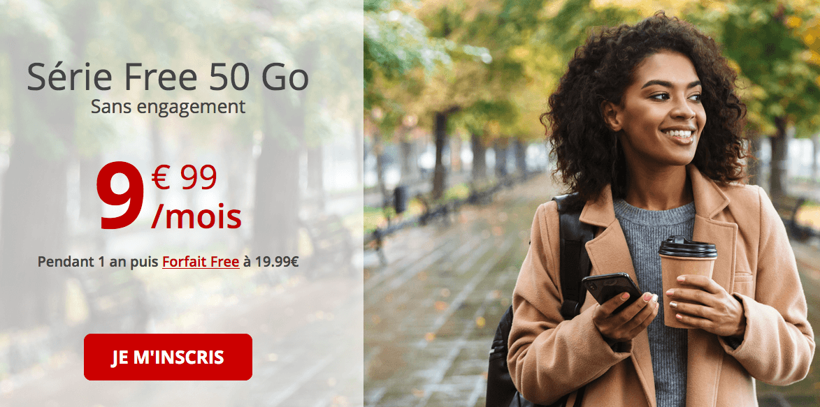 le forfait en promotion de Free mobile