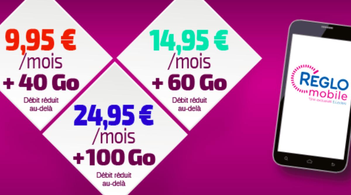 Les forfaits riches en data proposés par Reglo Mobile