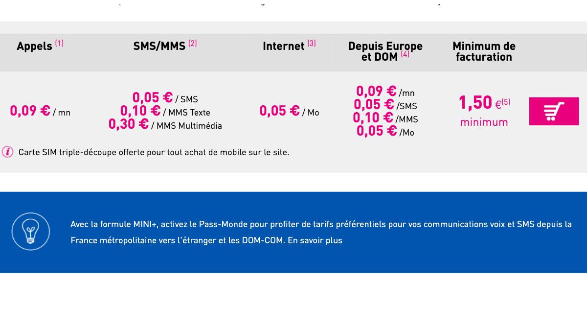 L'offre Mini + de Reglo Mobile pour payer en fonction de ses communications