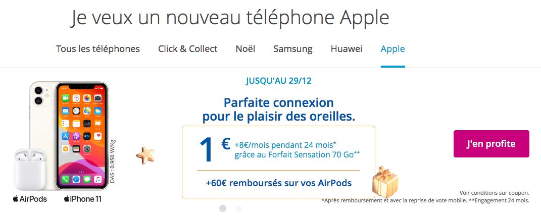 choisir iPhone 11 avec Bouygues Telecom