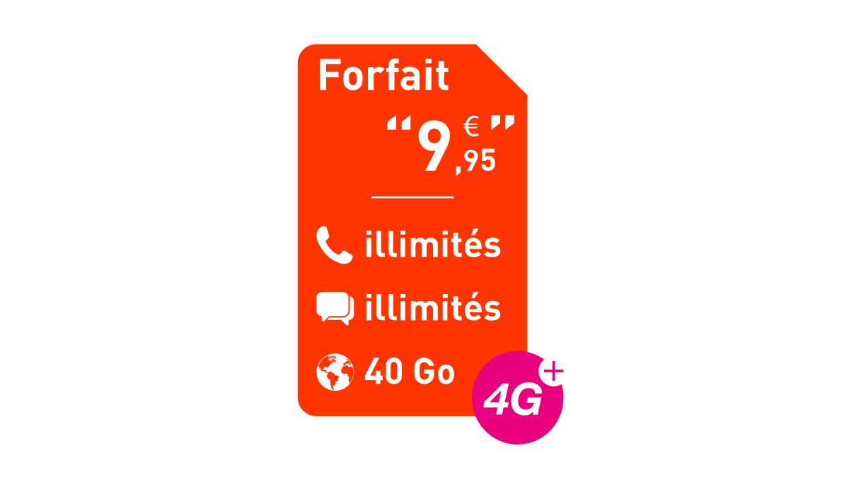 Le forfait pas chers proposés par Réglo Mobile pour seulement 9,95€