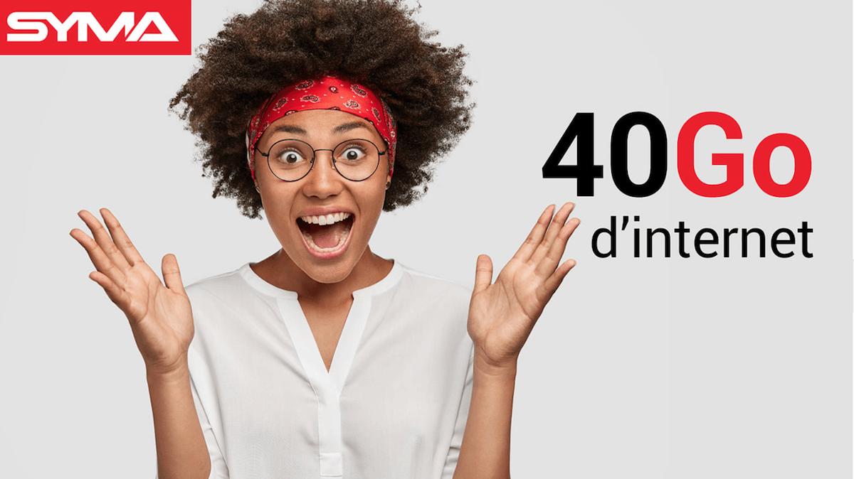40 Go de données mobiles pour seulement 9,90€/mois