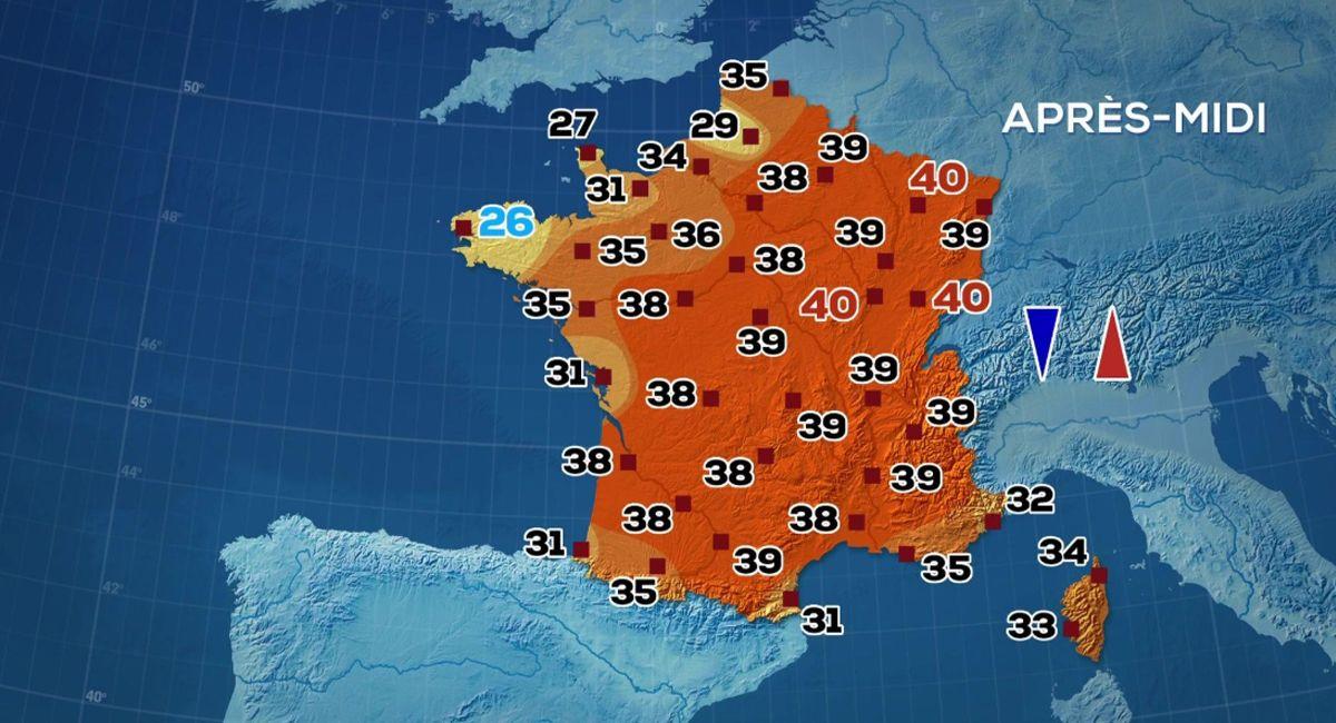 Les cartes des programmes météorologiques seraient difficiles à remplir correctement.