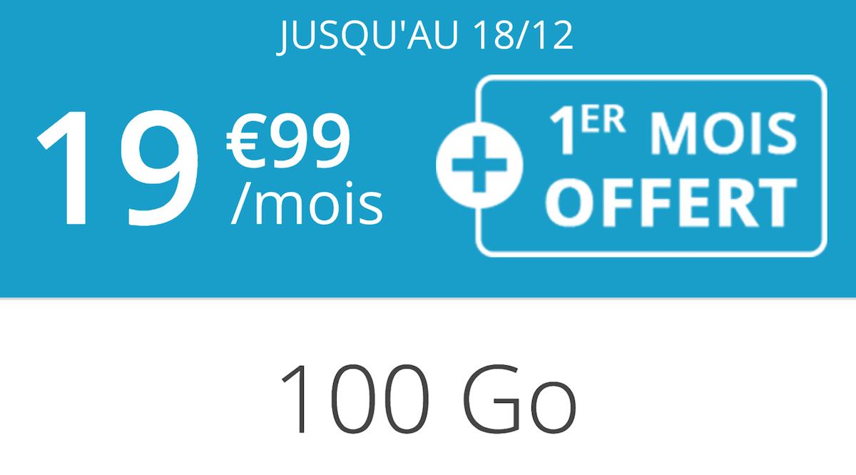 L'offre promotionelle de B&YOU pour un forfait 100 Go à prix réduit