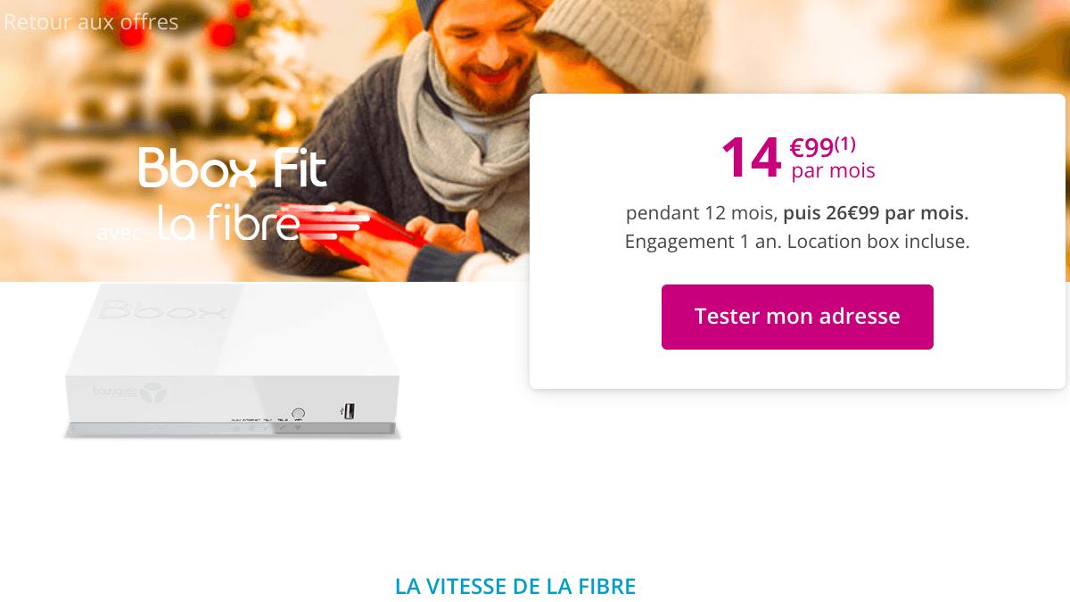 Promo fibre optique Bouygues Telecom.