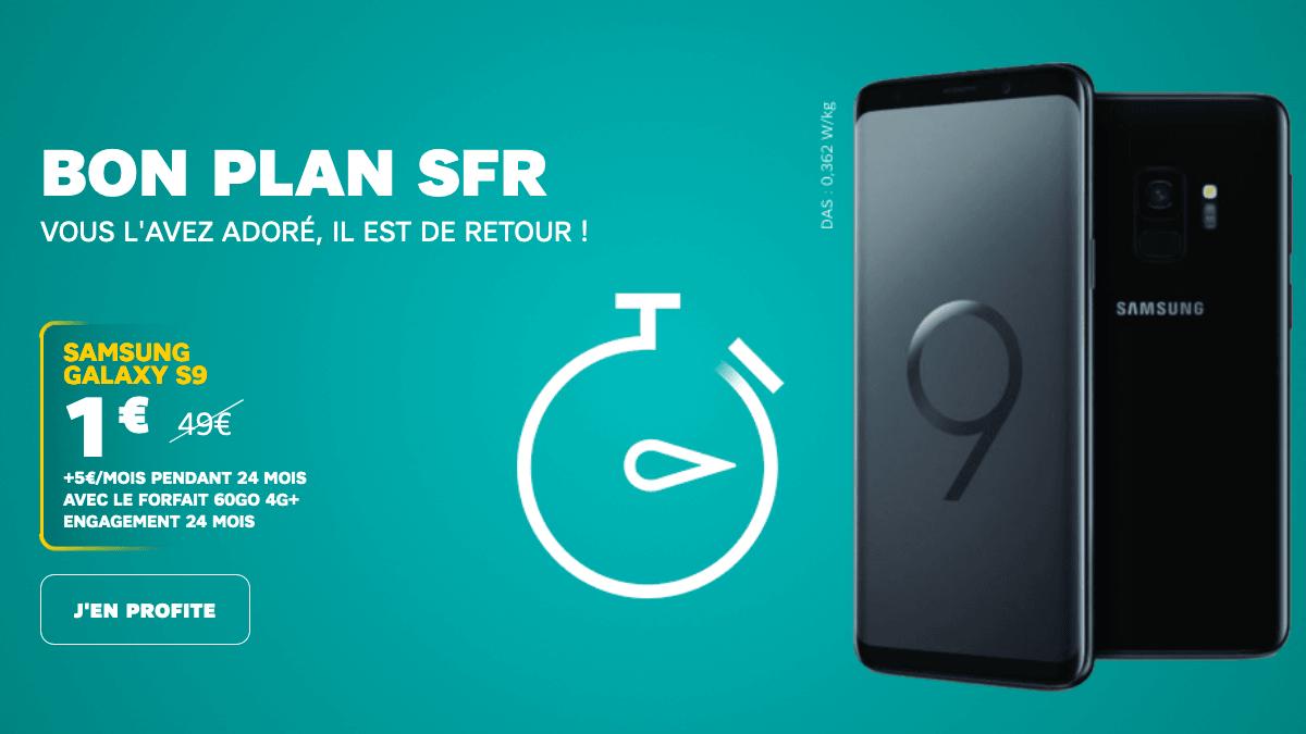 Galaxy S9 pas cher SFR.