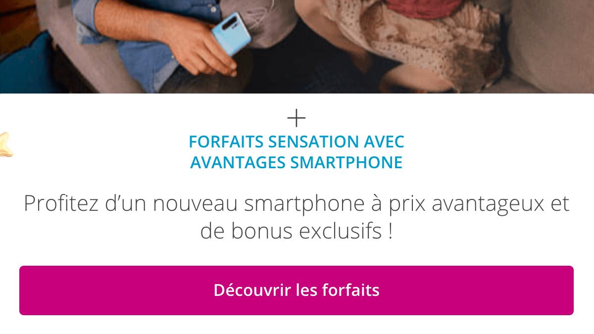 forfait Sensation promo Bouygues Telecom.