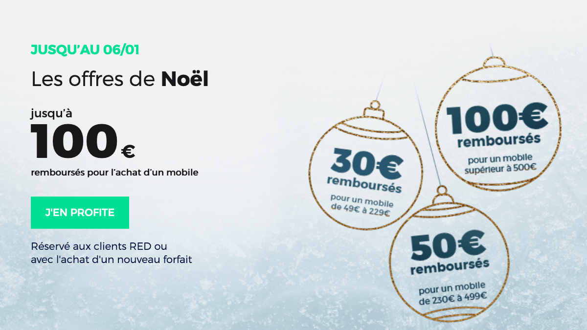 Noël RED by SFR promotion.