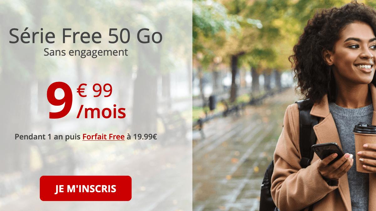 Forfait 4G pas cher chez Free.