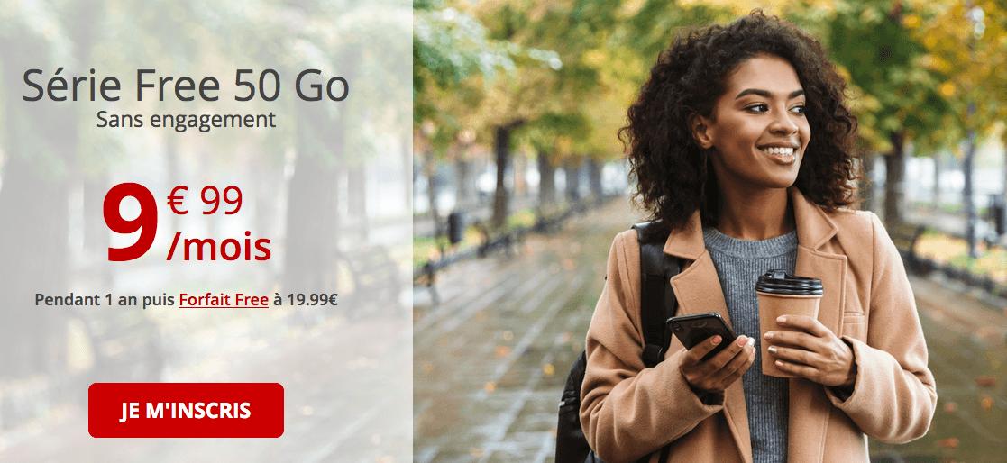 la série spéciale 50 Fo de Free mobile