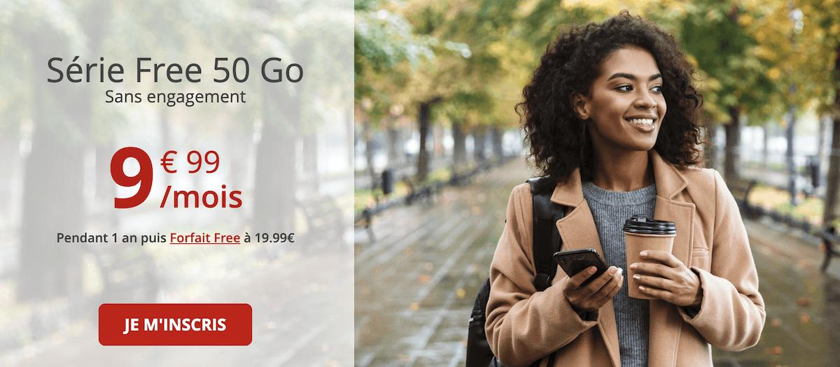 Le forfait 50 Go de Free mobile lui aussi en promotion depuis quelque temps