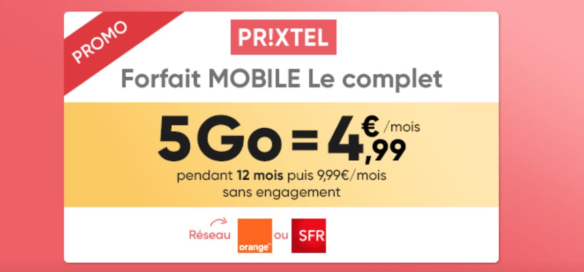 La Série Spéciale de Prixtel pour un forfait 4G à prix réduit