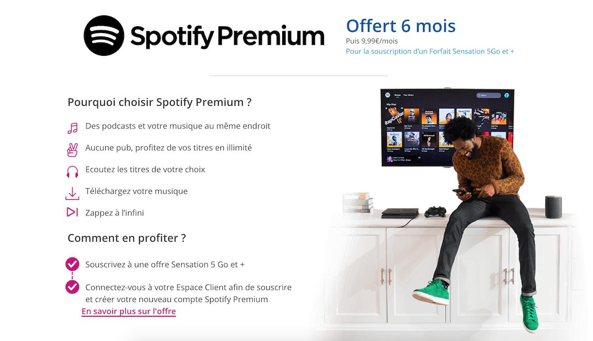 Spotify Premium offert en ce moment avec certains forfaits sensation