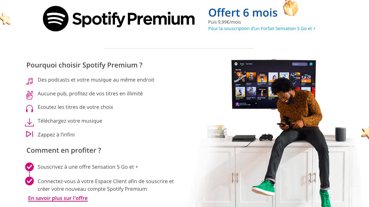 Le forfait 70 Go qui accompagne le Galaxy S10 avec notamment Spotify offert