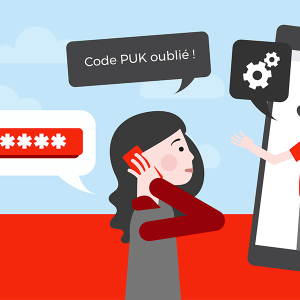 Service client SFR code PUK.