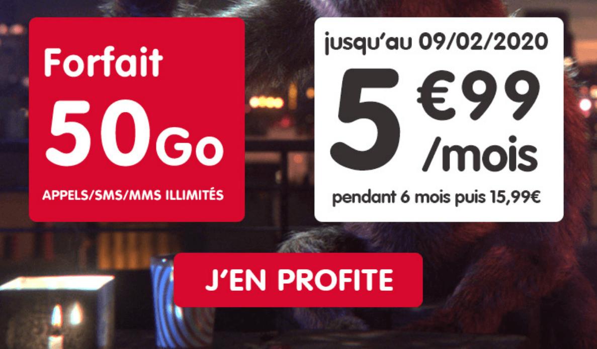 50 Go à 5,99€/mois
