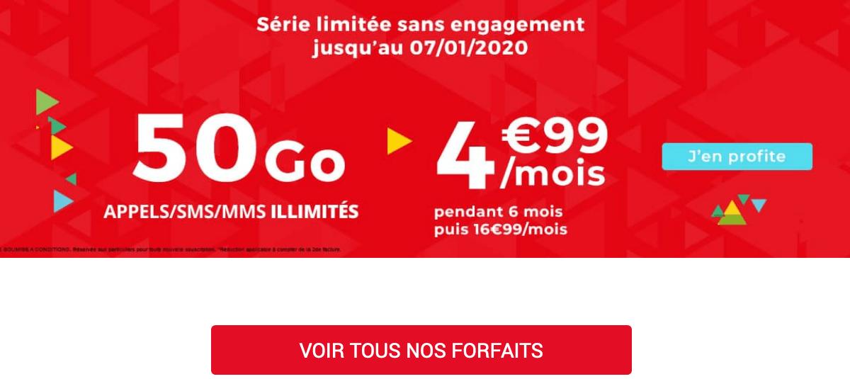 Forfait mobile en promotion chez Auchan Telecom.