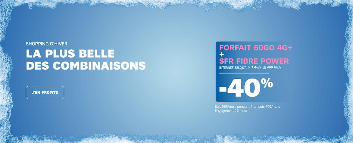 L'offre box + forfait de SFR disponible à -40%