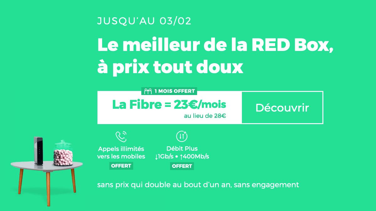 Box fibre optique pas chère RED.