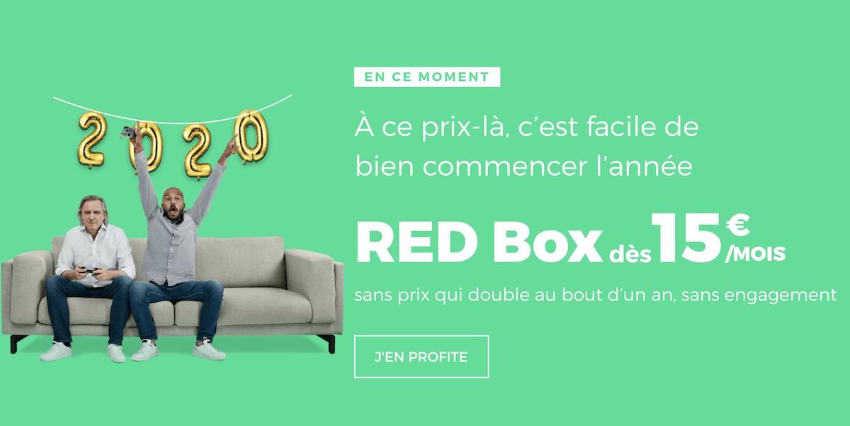 La box internet de RED by SFR n'est plus en promotion
